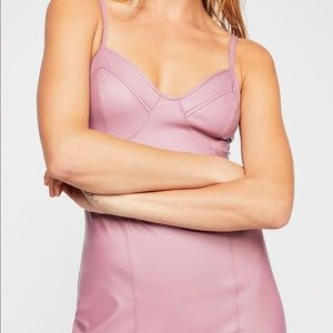 Free People Say no More slip dress in pink